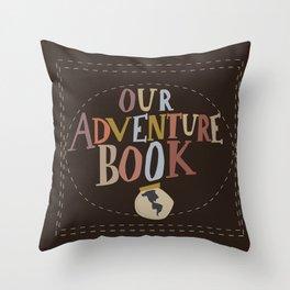 our adventure book Throw Pillow