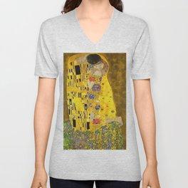 The Lovers Kiss After Klimt Unisex V-Neck