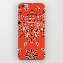 red bandana iPhone Skin