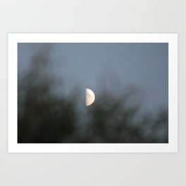 Moon in Midday Art Print