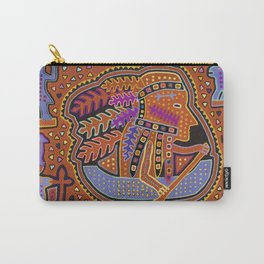 Kuna Indian Man in Canoe Carry-All Pouch