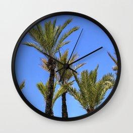 Paradise Palm Tress Wall Clock