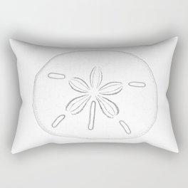 Sand Dollar Blessings - Black on White Pointilism Art Rectangular Pillow