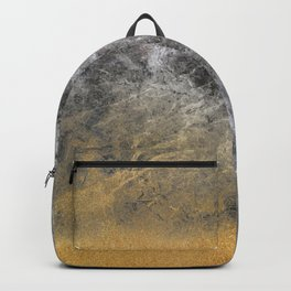 Gold Glitter Into Mid Marble Backpack