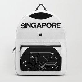 Singapore Black Subway Map Backpack
