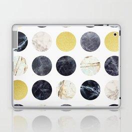 Marble and gold circles Laptop & iPad Skin
