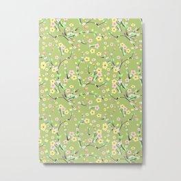 Green Spring Blossom Metal Print