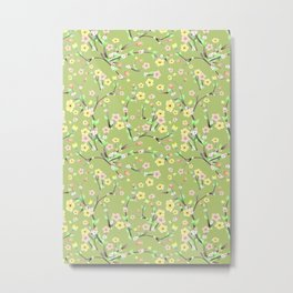 Green Spring Blossom Metal Print