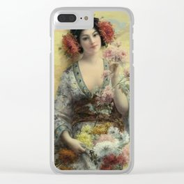 Vintage Geisha Clear iPhone Case