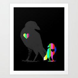 Crow's Heart Art Print