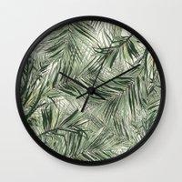 palms Wall Clocks featuring palms by .eg.