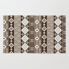 Colorful Aztec pattern with brown. Rug