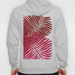 Modern Tropical Palm Leaves Painting rose on white background Hoody