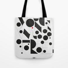 B&W Typography Tote Bag