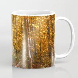 Autumn Forrest Gold Rays Coffee Mug
