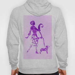 Purple glam lady & dog super plastic fantastic Hoody