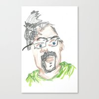 kevin russ Canvas Prints featuring Kevin by Sadie Padial