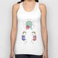 twins Tank Tops featuring Twins by Valentina Gruer