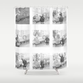 A Day in the Life of A Fairy Tale Bakery Shower Curtain