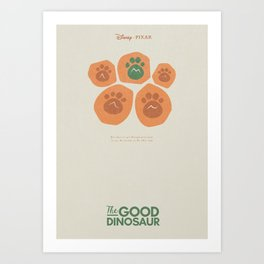 The Good Dinosaur - alternative 3D movie poster - minimal playbill for Pixar animation studios Art Print