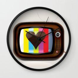 I Love TV vintage poster Wall Clock