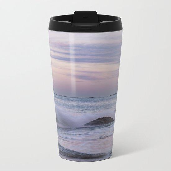 Pastel Ocean Moonrise Metal Travel Mug