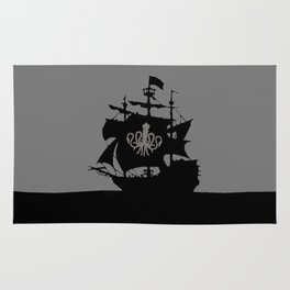 ship in the ocean Rug