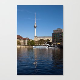 Autumnal Feeling at the River Spree in Berlin Canvas Print
