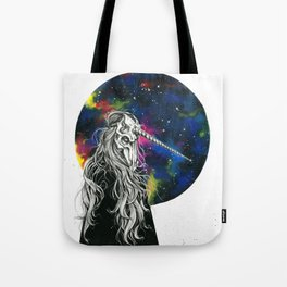 Unicorn girl Galaxy version Tote Bag