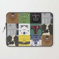 starwars Laptop Sleeves featuring Starwars combo by Alex Patterson AKA frigopie76