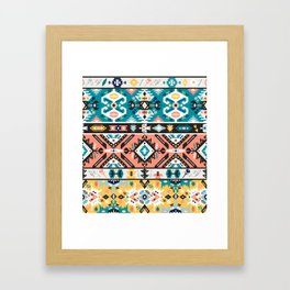 Tribal chic seamless colorful patterns Framed Art Print