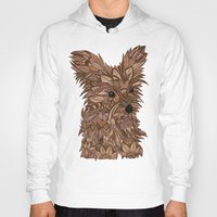 yorkie Hoodies featuring Cute Yorkie by ArtLovePassion