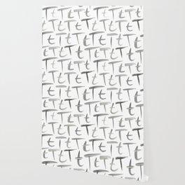 Watercolor T's - Grey Gray Wallpaper