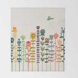 Happy garden Throw Blanket