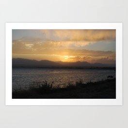 Rays of Sunset Art Print
