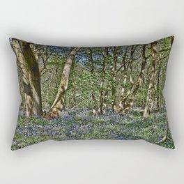 Bluebells in the woods Rectangular Pillow