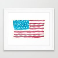american flag Framed Art Prints featuring American Flag by Caleb Boyles