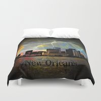 new orleans Duvet Covers featuring New Orleans by Kelly King