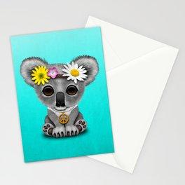Cute Baby Koala Hippie Stationery Cards