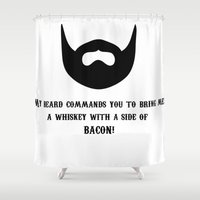 whiskey Shower Curtains featuring Whiskey by AlternateDecision