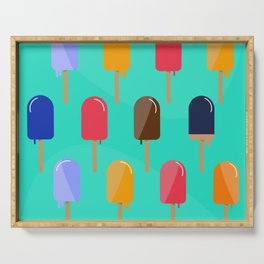 Hot Summer Popsicle Pattern Serving Tray