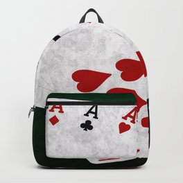Poker Hand Full House Ace Ten Backpack