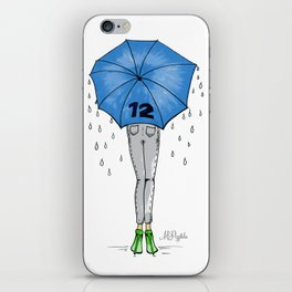 12th Man Umbrella // Fashion Print iPhone Skin