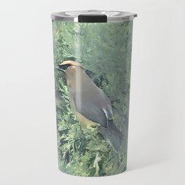 Cedar Waxwing Bird Travel Mug