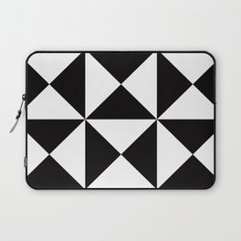 Geometric Pattern #45 (black white triangles) Laptop Sleeve