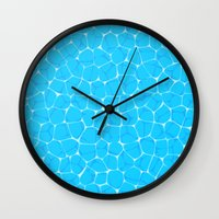 pool Wall Clocks featuring Pool by minemory