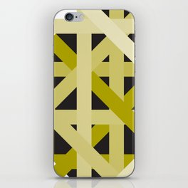 Gold Structural Lines Pattern iPhone Skin