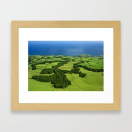Typical Azores landscape Framed Art Print