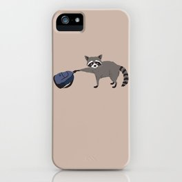 Raccoon stole my homework iPhone Case