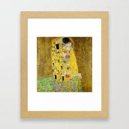 The Kiss, Gustav Klimt Framed Art Print